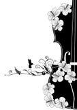 Composizione musicale floreale in vettore Fotografia Stock