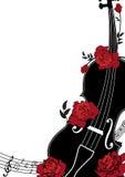 Composizione musicale floreale in vettore illustrazione di stock