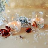 Composizione in Natale Fotografia Stock