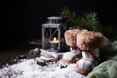Composizione in Natale con la pigna Immagini Stock