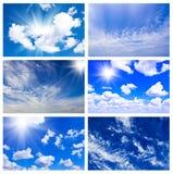 Composizione naturale nel cielo Fotografia Stock