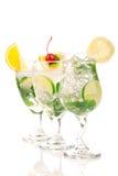 Composizione nei cocktail di Mojito Fotografia Stock