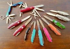 Composizione nei coltelli Fotografia Stock