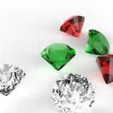 Composizione nei diamanti 3d su bianco come mas allegro di x Fotografie Stock