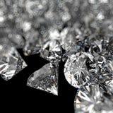 Composizione nei diamanti 3d sul nero Fotografie Stock Libere da Diritti