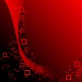 Composizione nei quadrati rossi e neri Fotografia Stock Libera da Diritti