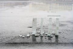 Composizione nel blocco di ghiaccio Immagine Stock Libera da Diritti