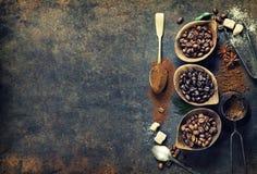 Composizione nel caffè Fotografia Stock Libera da Diritti