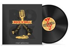 Composizione nel disco del vinile di musica illustrazione di stock