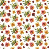 Composizione nel fiore dell'acquerello illustrazione di stock