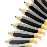 Composizione nel fondo della matita Fotografie Stock