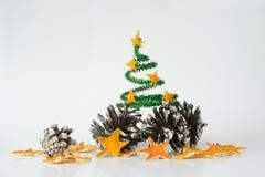 Composizione nel ` s del nuovo anno per una cartolina Fotografia Stock