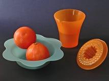 Composizione nel succo d'arancia Fotografia Stock
