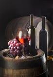Composizione nel vino immagini stock