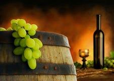 Composizione nel vino nell'interiore scuro Immagine Stock Libera da Diritti