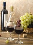Composizione nel vino rosso Immagine Stock Libera da Diritti
