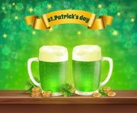 Composizione nella birra di giorno di Patricks del san Immagine Stock