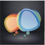 Composizione nella bolla di discorso con priorità bassa scura Immagine Stock