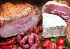 Composizione nella carne di cousine dell'alimento, ingrediente per mangiare Fotografie Stock