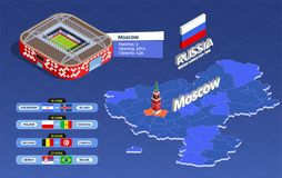 Composizione nella coppa del Mondo di calcio illustrazione vettoriale