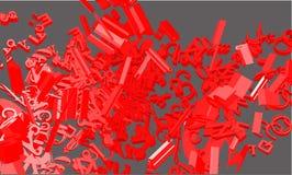 Composizione nella fonte tipografica di vettore 3d. Fotografia Stock Libera da Diritti