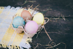 Composizione nella foto delle uova di Pasqua Immagine Stock Libera da Diritti