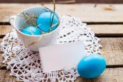 Composizione nella foto delle uova di Pasqua Fotografia Stock