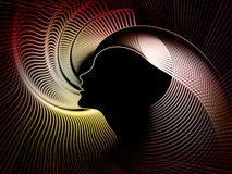 Composizione nella geometria di anima Immagini Stock
