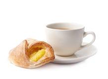 Composizione nella pasticceria e nella tazza di caffè Fotografia Stock
