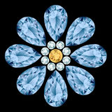 Composizione nella pietra preziosa del fiore Immagine Stock Libera da Diritti