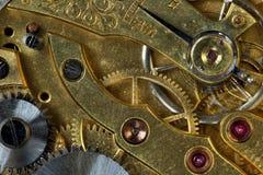 Composizione nella priorità bassa dell'orologio mechanism Fotografia Stock Libera da Diritti