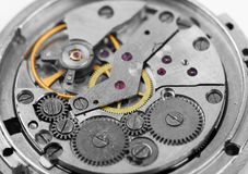 Composizione nella priorità bassa dell'orologio mechanism Fotografie Stock Libere da Diritti