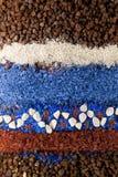 Composizione nella sabbia e nella pietra fotografie stock