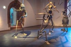 Composizione nella scultura dei cavalieri Fotografie Stock Libere da Diritti