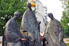 Composizione nella scultura della trinità in Yaroslavl, Russia Immagine Stock Libera da Diritti