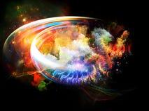 Composizione nelle nebulose di progettazione Fotografia Stock
