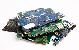 Composizione nelle schede madri del computer portatile Fotografie Stock