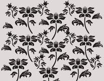 Composizione nera classica nell'ornamento del fiore Immagini Stock