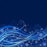 Composizione orizzontale astratta del nuovo anno Immagine Stock Libera da Diritti