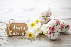 Composizione in Pasqua con le uova fotografia stock