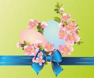 Composizione in Pasqua con le uova di Pasqua Fotografie Stock