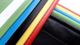 Composizione piana colorata nella geometria di plastica Fotografia Stock