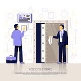 Composizione piana in tecnologie dell'identificazione illustrazione di stock