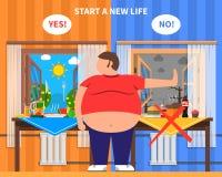Composizione in progettazione di obesità Immagini Stock Libere da Diritti