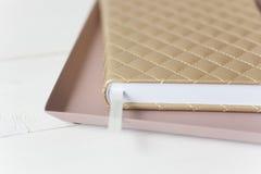 Composizione rosa elegante nell'oro Immagini Stock Libere da Diritti