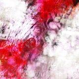 Composizione rossa e bianca Fotografia Stock