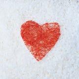 Composizione rossa in forma del cuore Immagini Stock Libere da Diritti