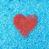 Composizione rossa in forma del cuore Fotografie Stock