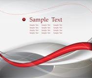 Composizione rossa nella priorità bassa dell'estratto di tecnologia illustrazione di stock