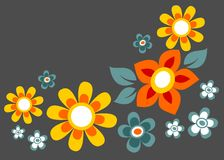 Composizione scura nel fiore Fotografie Stock